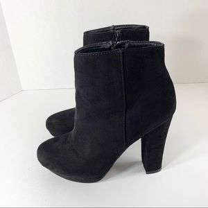 Report • Black Suede Ankle Boots
